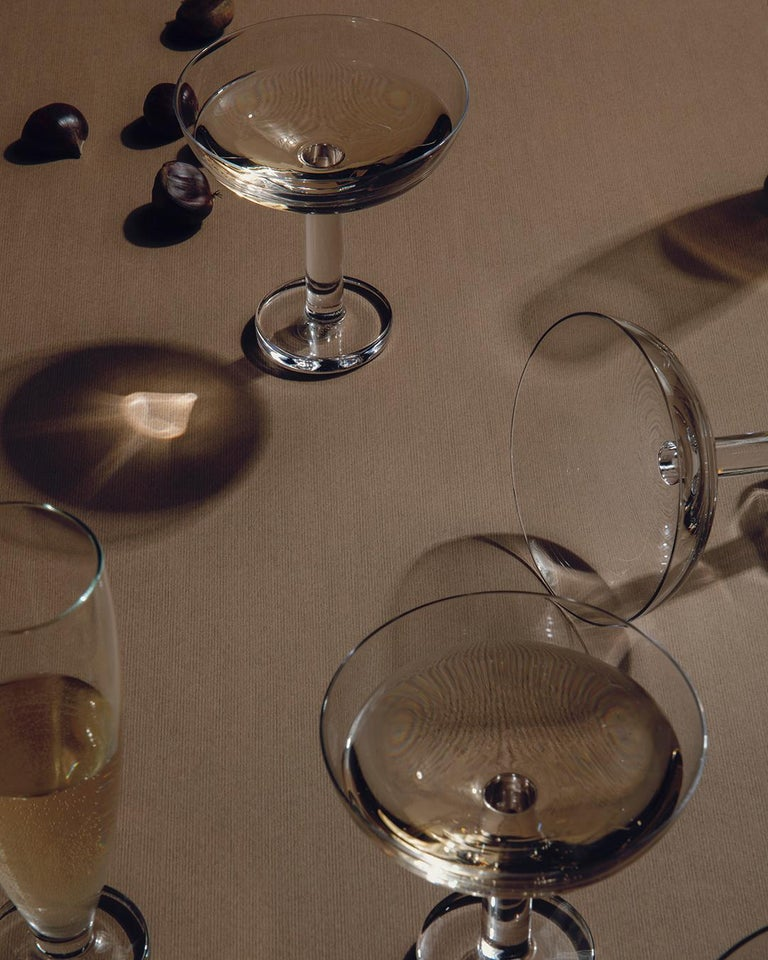 Tulip Set of Six Champagne or Martini Glass by Aldo Cibic In New Condition For Sale In Milan, IT