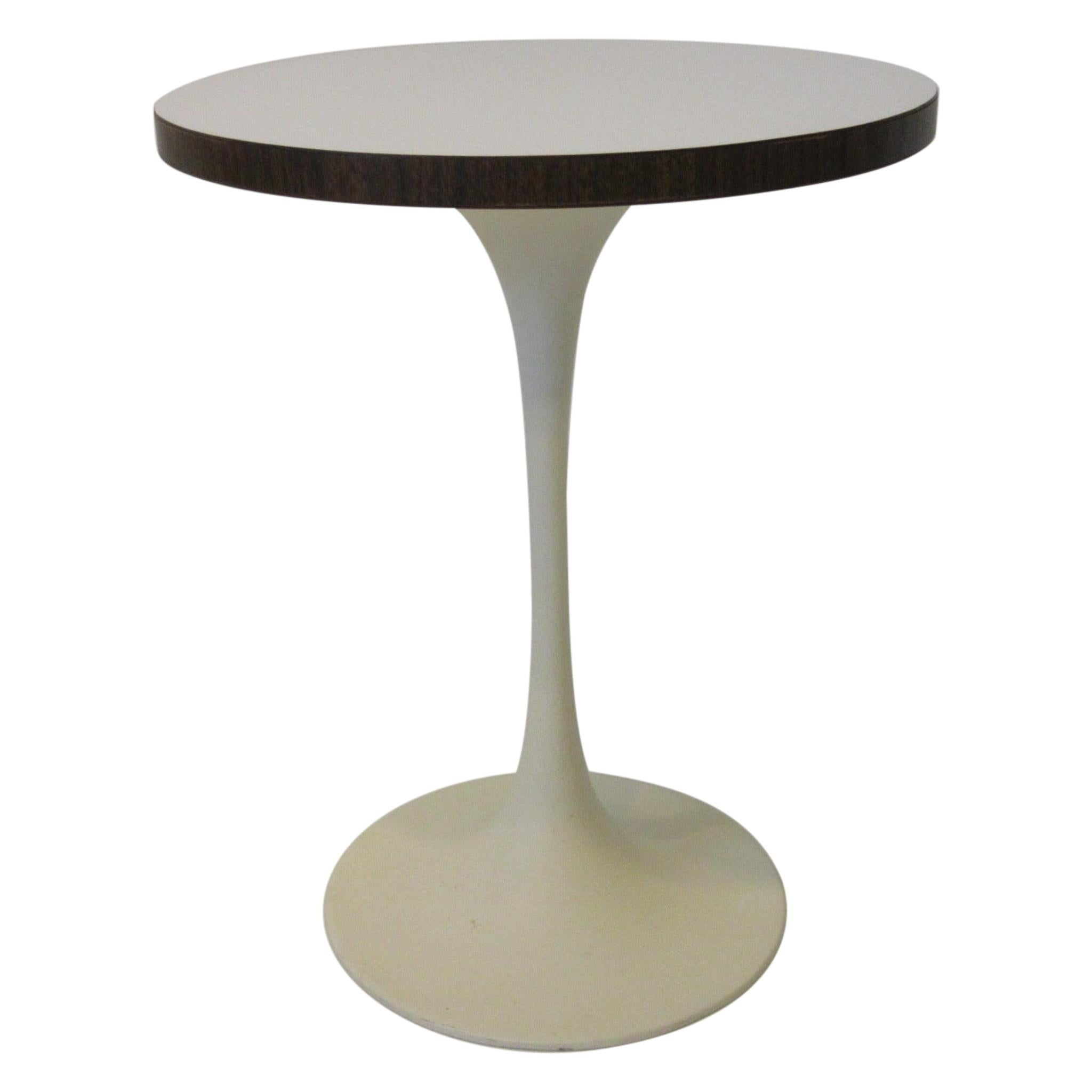 Tulip Side Table by Maurice Burke in the Manner of Knoll