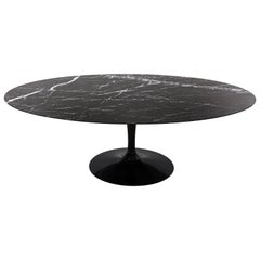 Tulip Table in Black Marquina Marble by Eero Saarinen for Knoll
