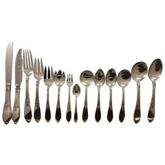 Tulipan by Fr. Smith Sterling Silver Flatware Set Service 194 Pieces Dinner Rare