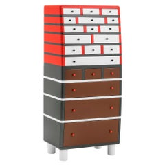 Tulipano Chest of 21 Drawers by George J. Sowden by Post Design Collect./Memphis