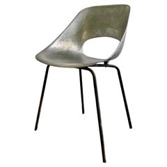 Tulipe Chair in Aluminium by Pierre Guariche for Steiner, France, 1950s