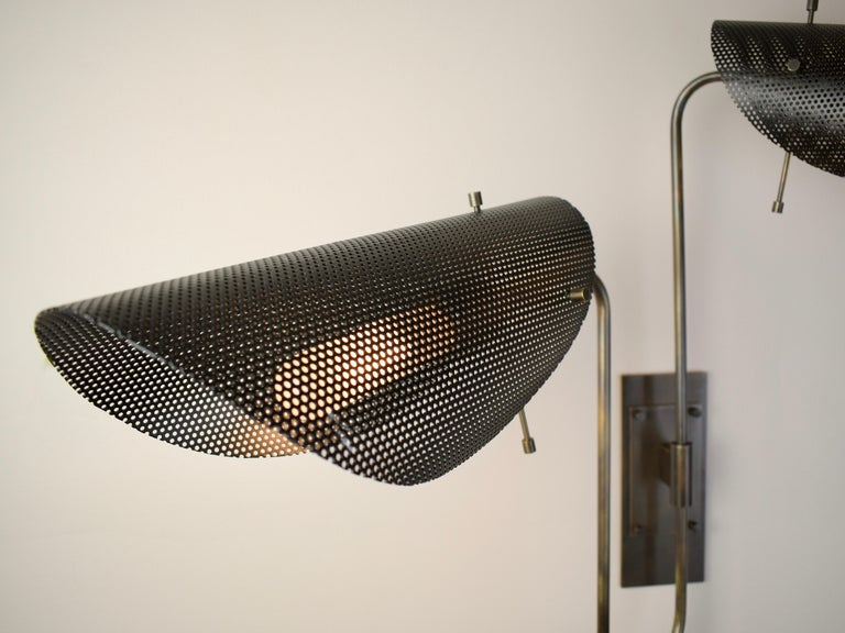 Tulle 2 Wall Lamp in Bronze and Black Enamel Mesh by Blueprint Lighting, 2019 3