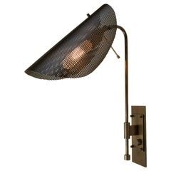 Tulle Wall Lamp in Bronze and Black Enamel Mesh by Blueprint Lighting, 2019