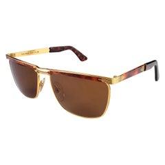 Tullio Abbate Gold Square Sunglasses
