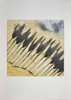 Shadow of Camels - Original Etching by Tullio Diamanti - 1980