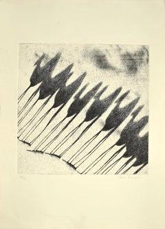 Shadow of Camels - Original Etching by Tullio Diamanti - 1980s