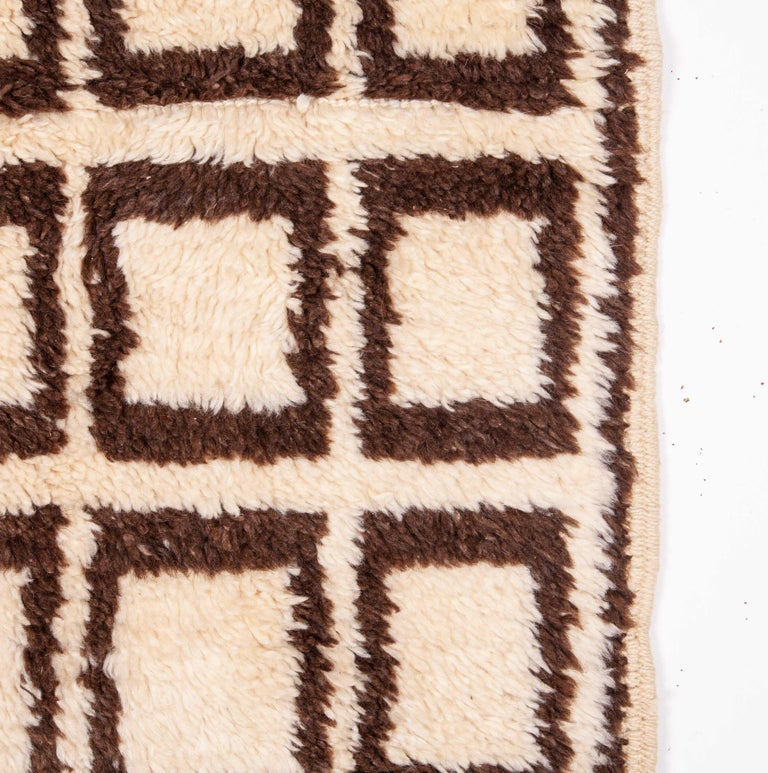 Hand-Woven Tulu Rug from Central Anatolia, Late 20th Century For Sale