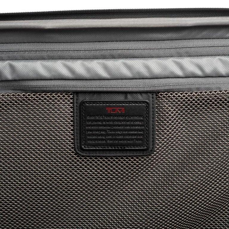 TUMI Black Nylon Alpha 2 Short Trip Expandable 4 Wheel Packing Case Luggage 12