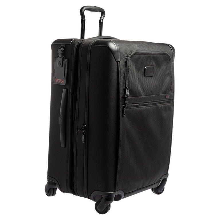 Men's TUMI Black Nylon Alpha 2 Short Trip Expandable 4 Wheel Packing Case Luggage