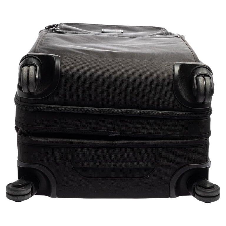 TUMI Black Nylon Alpha 2 Short Trip Expandable 4 Wheel Packing Case Luggage 1