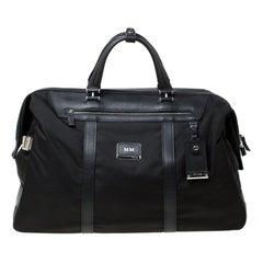 TUMI Black Nylon and Leather Anderson Duffle Bag