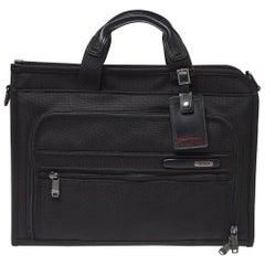 Tumi Black Nylon DFO Slim Deluxe Portfolio Bag