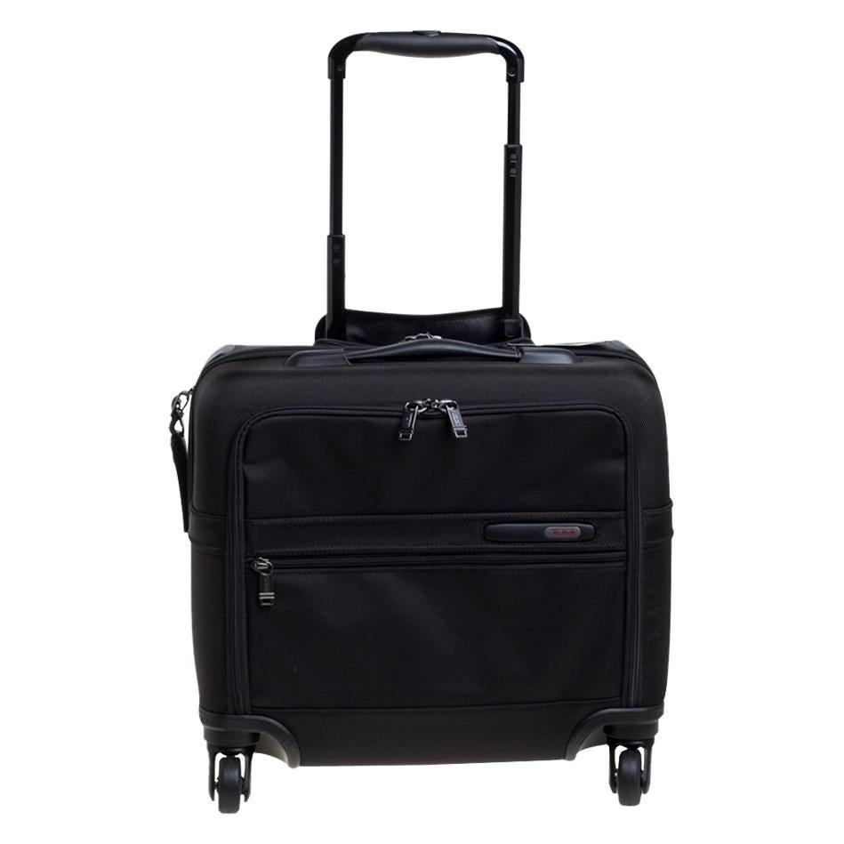 Tumi Black Nylon Gen 4.2 4 Wheel Compact Carry On Luggage