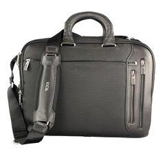 TUMI Black Nylon & Leather Laptop Briefcase