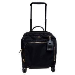 TUMI Black Nylon Oslo Compact Carry On Luggage