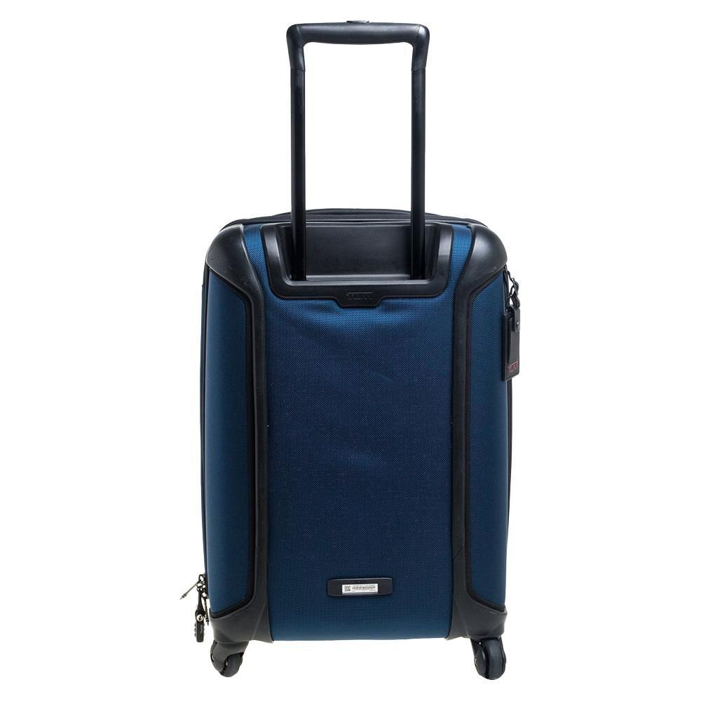 TUMI Blue/Black Nylon Gen 4.2 Lightweight International Carryon Luggage
