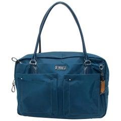 Tumi Blue Nylon Pocket Shoulder Bag