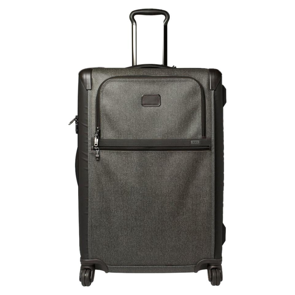 TUMI Grey/Brown PVC Alpha 2 Medium Trip Expandable 4 Wheel Packing Case Luggage