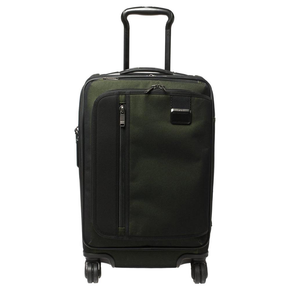 TUMI Metallic Ombre Green/Black Mesh and Nylon Merge Expandable Trolley Suitcase