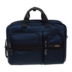 TUMI Navy Blue Nylon Gen 4.2 Three Way Briefcase