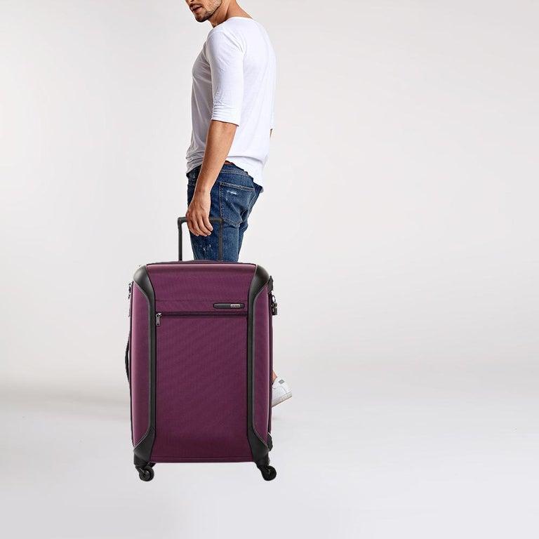Black TUMI Purple Nylon Medium Gen 4.2 Lightweight Trip Packing Case Luggage For Sale