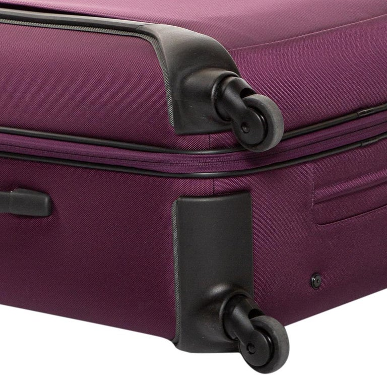 TUMI Purple Nylon Medium Gen 4.2 Lightweight Trip Packing Case Luggage For Sale 4