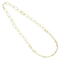 Tura Sugden Handmade Organic Link Gold Chain Necklace