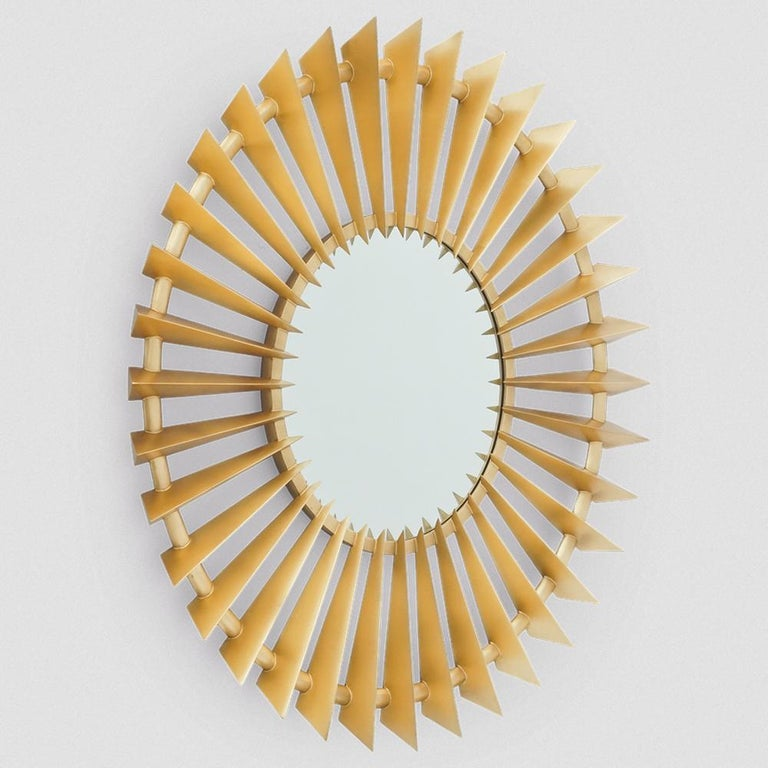 Mirror Turbine Gold with structure in solid 