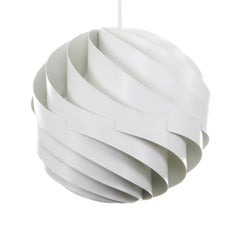 Turbo White Pendant by Louis Weisdorf for Lyfa in 1965, Vintage Edition