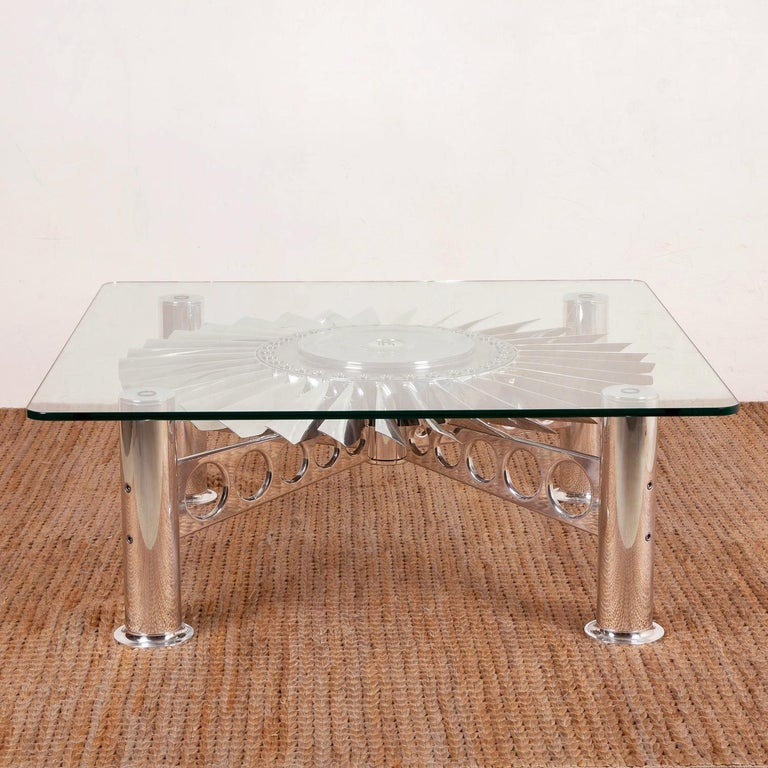 English Turbofan Rolls-Royce Coffee Table For Sale