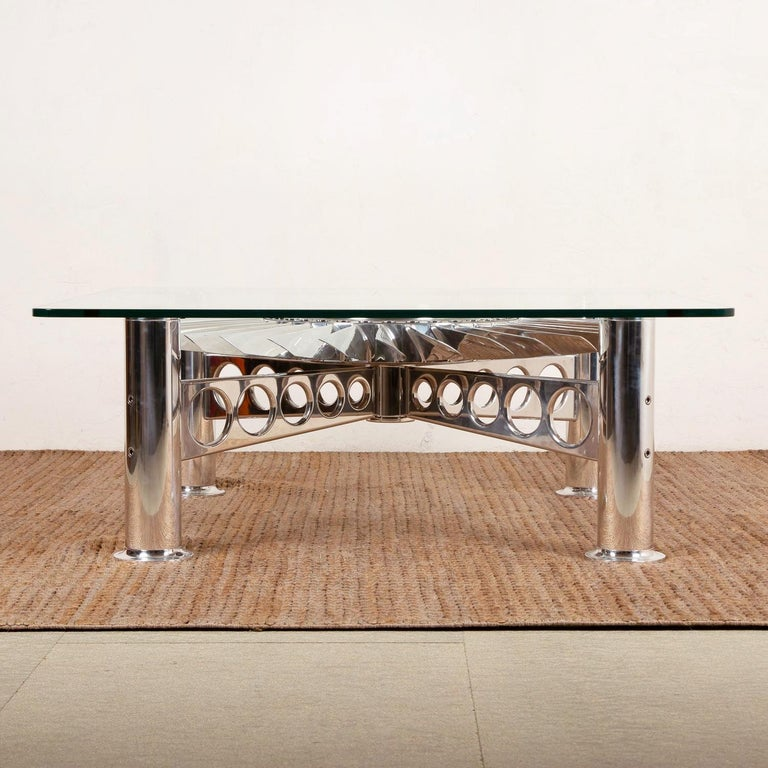 Hand-Crafted Turbofan Rolls-Royce Coffee Table For Sale