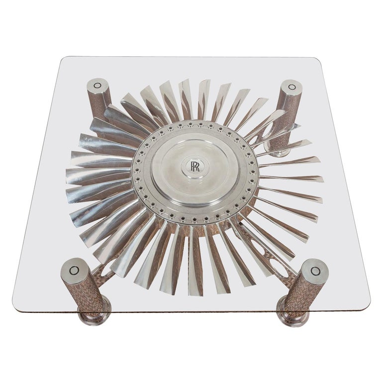Turbofan Rolls-Royce Coffee Table For Sale
