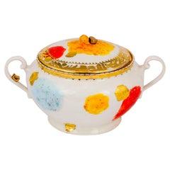 Tureen Gold Hand Painted Coralla Maiuri Modern New Tableware
