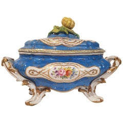 "Tureen, Hand Decorated Signed ""Porcellain de Paris"""