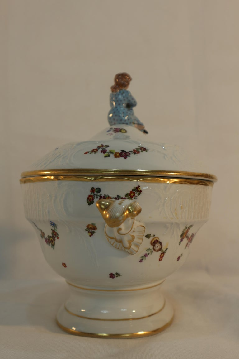 Tureen, Hungary, Late 19th Century Porcelain Hand Painted Herend 4