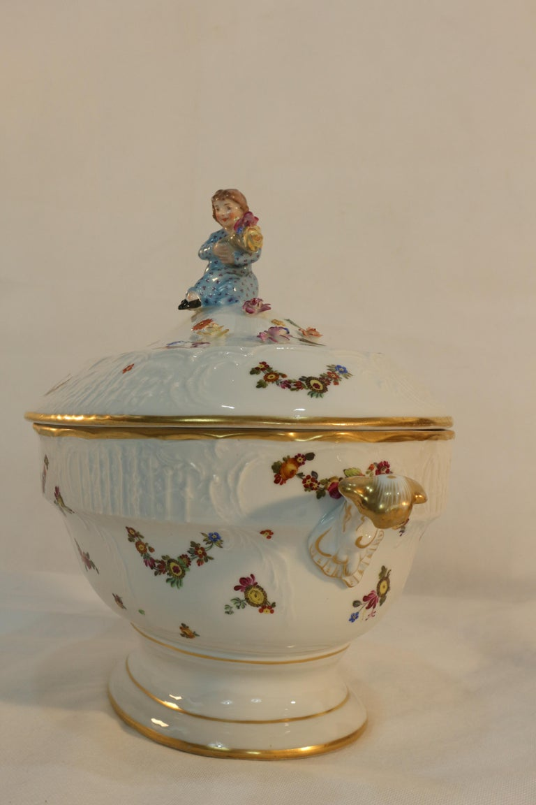 Tureen, Hungary, Late 19th Century Porcelain Hand Painted Herend 9