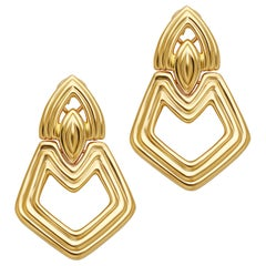 Turi 18 Karat Yellow Gold Door Knocker Earrings