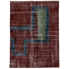 Turkish Art Deco Postmodern Rug