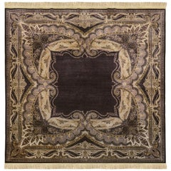 Turkish Handwoven Silk Rug