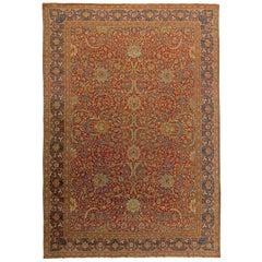 Turkish Hereke Antique Rug