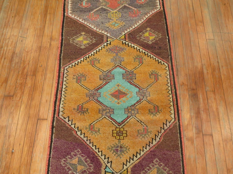 Turkish Kars Runner In Excellent Condition For Sale In New York, NY