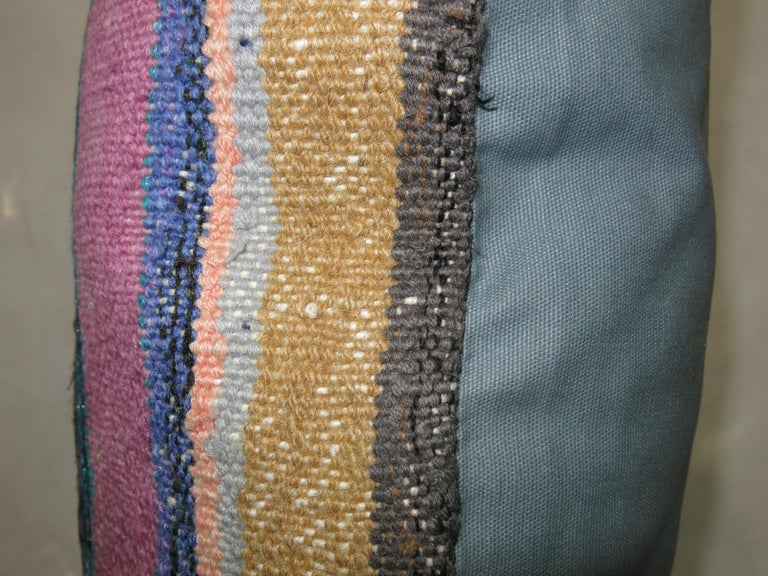 Colorful one of a kind Turkish rug pillow.