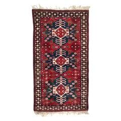Turkish Konya Vintage Rug