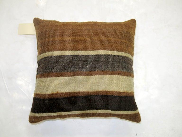 Modern Turkish Mohair Rug Pillow For Sale