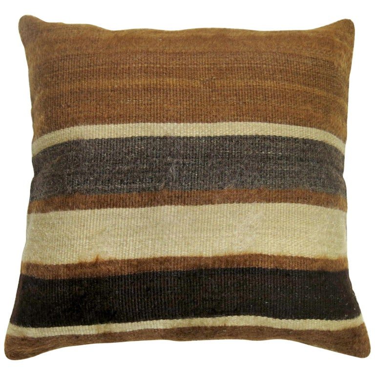 Turkish Mohair Rug Pillow For Sale