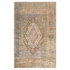 Turkish Oushak Brick Red, Terracotta, Deep Blue and Gold Wool Rug