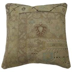 Turkish Oushak Neutral Rug Pillow