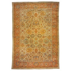 Turkish Oushak Oriental Carpet in Mansion Size with Large All-Over Design