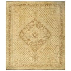 Turkish Oushak Rug Carpet, circa 1940, 11'4 x 12'11
